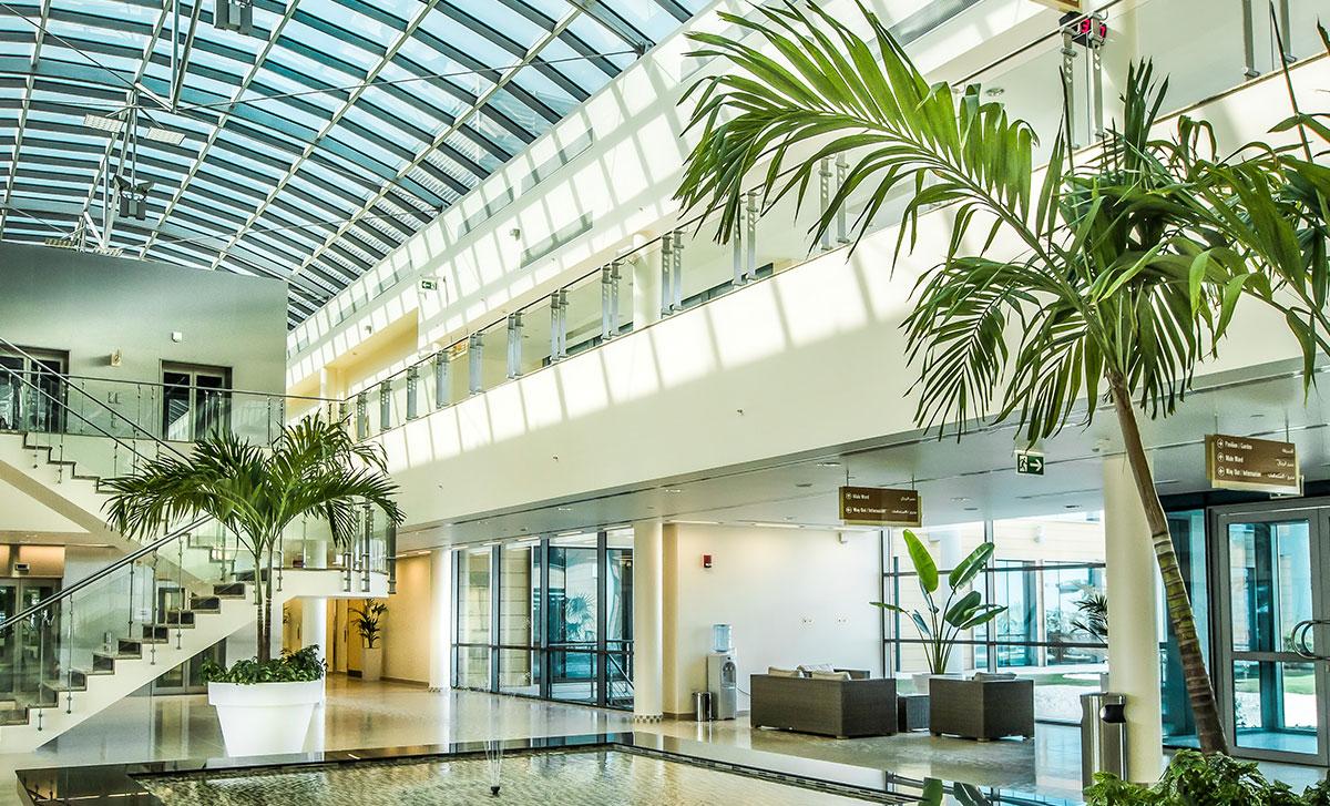 Krankenhausbau Lobby